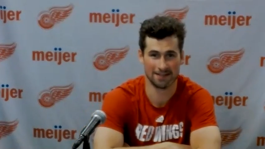 """Detroit Red Wings captain Dylan Larkin: """"It hurt"""" to see Anthony Mantha traded"""