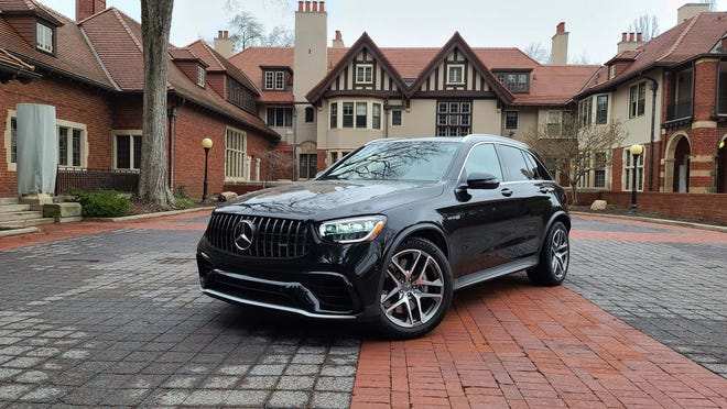 Bull in a china shop. The 2020 Mercedes-AMG GLC 63 is an SUV with a race car inside straining to get out.