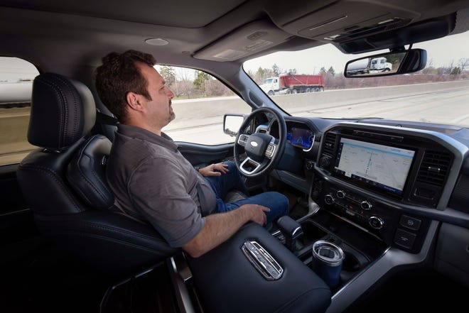 Ford's BlueCruise allows hands-free driving on 100,000 miles of desgnated, divided highways in the US and Canada.