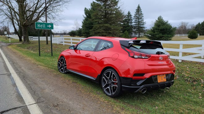 Detroit News auto critic Henry Payne took the 2021 Hyundai Veloster N to Hell (Michigan) and back.