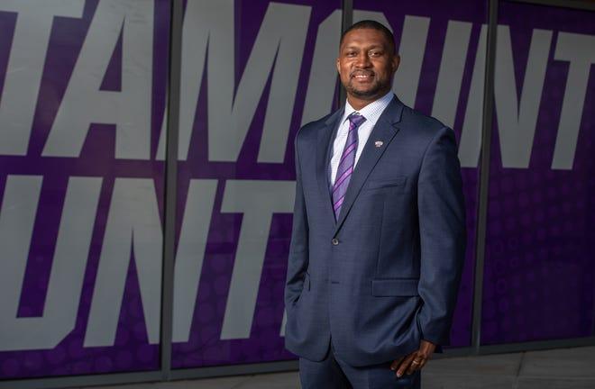 Justin Gray, hired Tuesday as men's basketball coach at Western Carolina University.