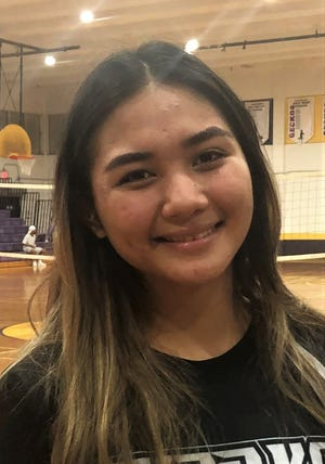 MVP Heather Reyes, senior at Simon Sanchez High School, was selected MVP for the Interscholastic Sports Association girls volleyball league on April 13.