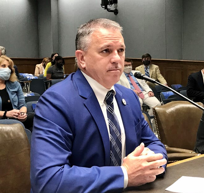 Louisiana House Speaker Clay Schexnayder, R-Gonzales, testifies before the House Ways and Means Committee April 13, 2021.
