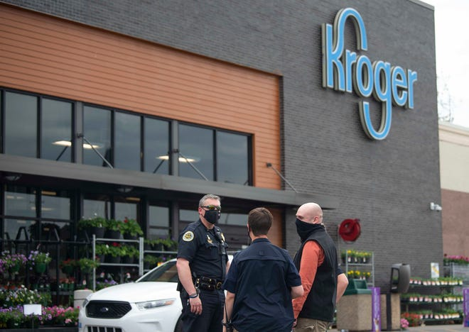 Metro Nashville Police arrested a suspect who they say chased a customer with a knife at the East Nashville Kroger on Gallatin Avenue, Thursday, April 13, 2021