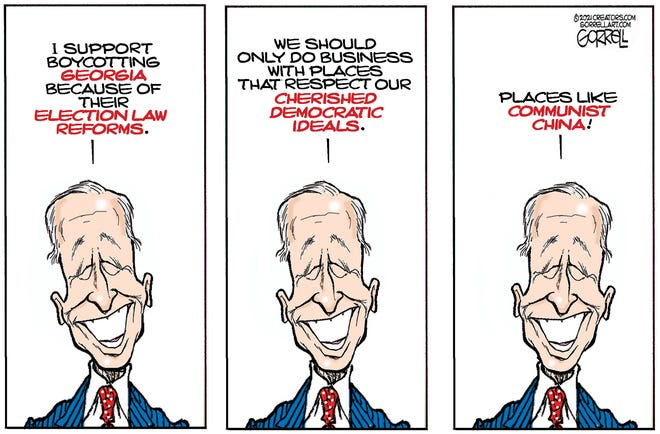 Biden on Georgia voting law.
