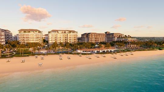 Rendering of new Naples Beach Club resort project