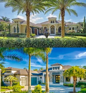 Gulfshore Homes transformed a Mediterra home, built in 2005, from a Mediterranean-styled home into a transitional, more contemporary-style home.