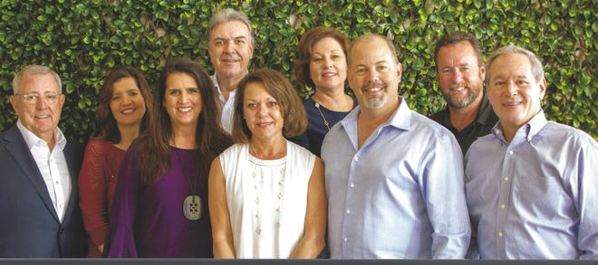 The personalities at Distinctive Communities™ give home buyers a comfort level when purchasing a custom home.  L-R Steven Fiterman, Tonya Haskins, Molly Hoover, Wendy Mease, Matthew Fiterman, Rod Mease (Back row) Dave Jeronimus, Teresa Rucker, William J. Lees III.