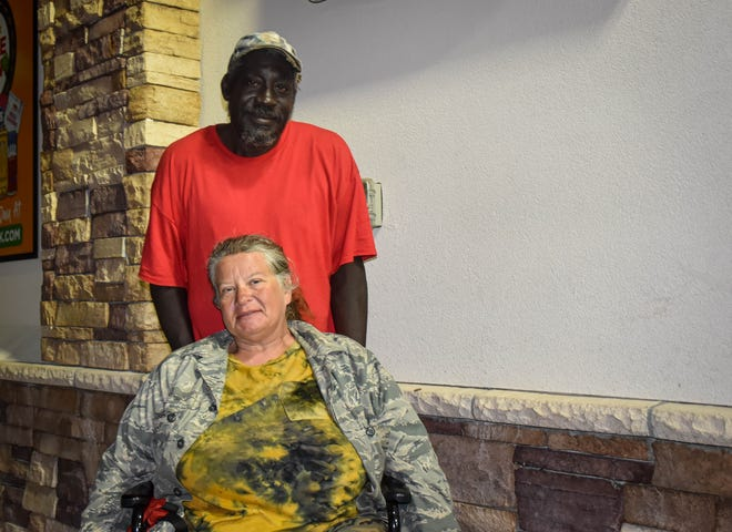 Freddie Finkley saved a life last week when he pulled another man out of a burning SUV after a head-on collision on Cervantes Street. Finkley and his girlfriend, Stephanie Tidwell, are homeless. They have lived outdoors on Pensacola's streets for about the past five years.