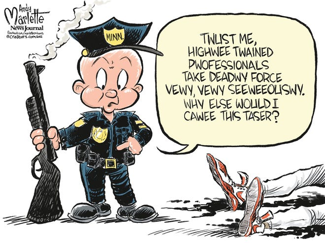 Marlette cartoon: Deadly Force