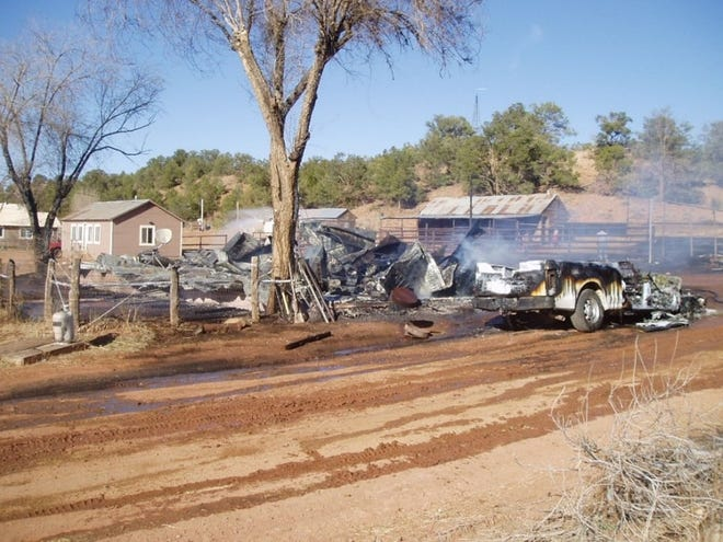 Coconino County sheriff's officials are investigating a reported explosion and fire that left one person dead on Saturday afternoon at Rose Well Camp, on a ranch near Seligman.