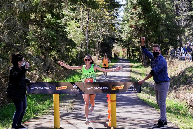 Desiree Linden became the first woman to break three hours for 50K (31 miles) Tuesday in Oregon. Linden is a two-time Olympian.