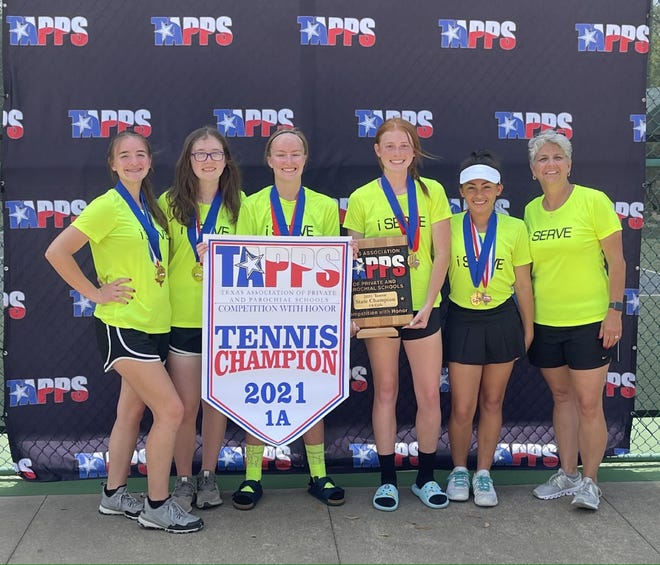 San Angelo Cornerstone High School finished first at the TAPPS Class 1A tennis tournament April 6-7, 2021, in Waco.