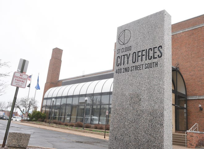 St. Cloud City Hall is pictured Tuesday, April 13, 2021, in St. Cloud.