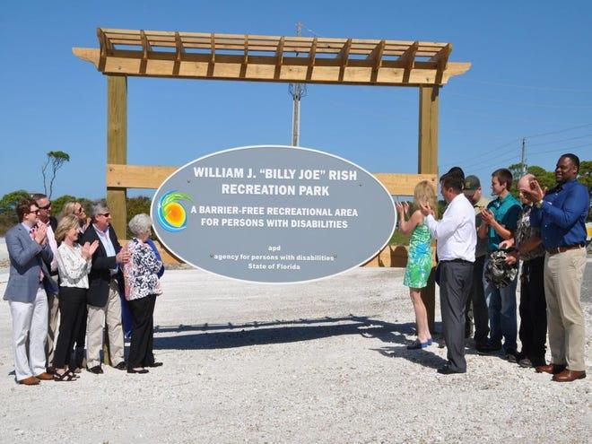 William J. Rish Recreation Park sign