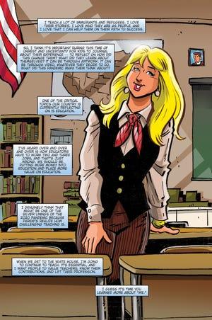 """First lady Jill Biden is the star of her first comic book, """"Female Force: Jill Biden."""""""