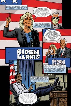 """Female Force: Jill Biden"" is a biography comic book on first lady Jill Biden."