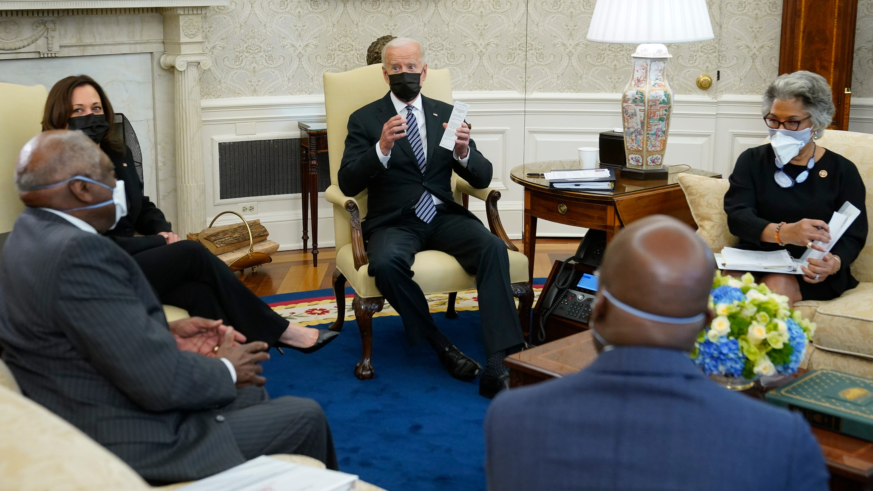 'This has been a tough week': Black lawmakers discuss racial inequities, COVID with Biden