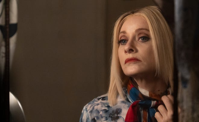 "Some gnarly bite marks suggest a change is coming for Anne (Barbara Crampton) in the vampire tale ""Jakob's Wife."""