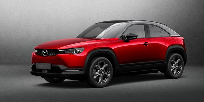 The Mazda CX-30 electric crossover.