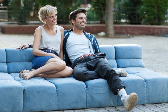 "Chloe (Denise Gough) and Mickey (Sebastian) are two Americans living in Greece who fall hard for each other in the romance ""Monday."""