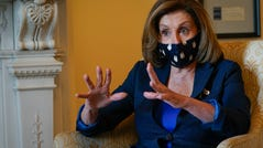 House Speaker Nancy Pelosi, D-Calif., in her United States Capitol office on Tuesday.