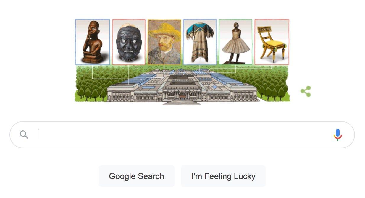 Metropolitan Museum of Art gets Google Doodle treatment for 151st anniversary