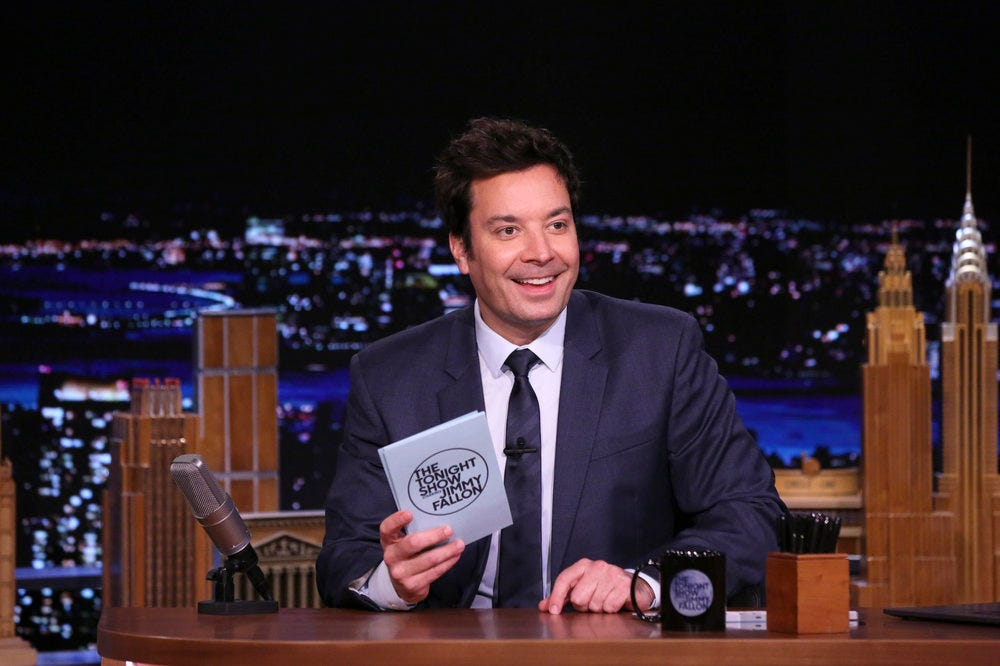 Even Fallon, who has never been particularly comfortable with political humor, seems to be holding onto Trump jokes as his