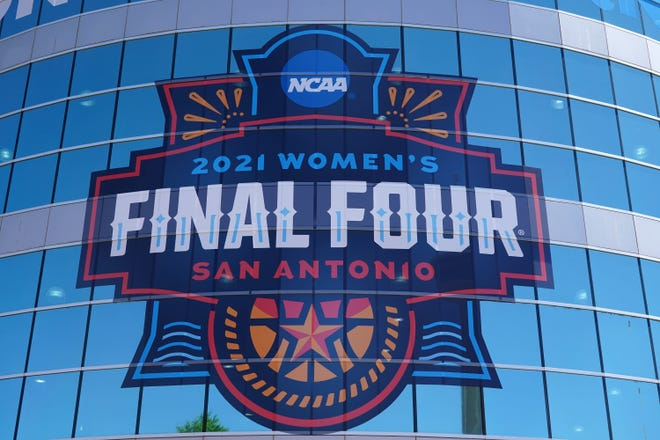 The NCAA held the 2021 women's basketball Final Four at the Alamodome in San Antonio, Texas.