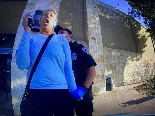 Lake Travis school board candidate Kara Bell was handcuffed by Sunset Valley police officers last week outside of the Nordstrom Rack store. According to a police report, Bell shoved a store employee during an altercation over wearing a mask.