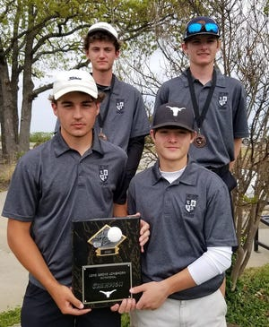 The Longhorns shot 338 on Tuesday to take first place during their home invitational at Lake Murray Golf Course.