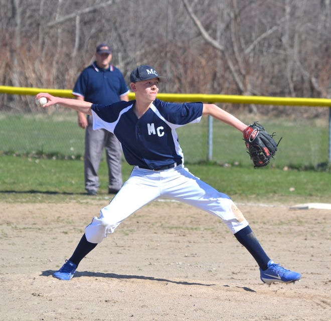 Sophomore Lars Huffman is one of the key returning players for the Mackinaw City varsity baseball team.