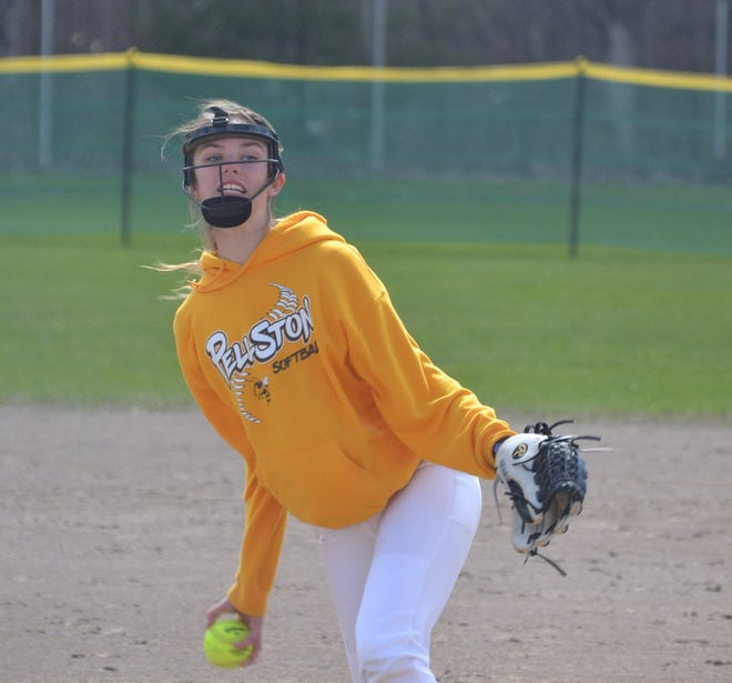 Pitcher Madison Brown is one of the top players returning for the Pellston varsity softball team this season.