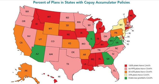 """As in many states, a vast majority of health-insurance plans in Ohio contain co-pay accumulators, researchers found for an AIDS Institute study entitled """"Double-Dipping: Insurance Companies Profit at Patients' Expense."""""""