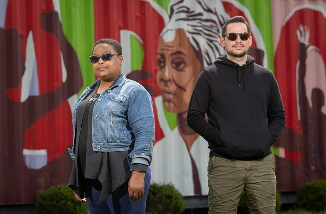Say It Loud Columbus co-founders Paisha Thomas, 46, of Worthington, and Joey Gardina, 37, of Westerville, organized the group to add music to social justice protests.