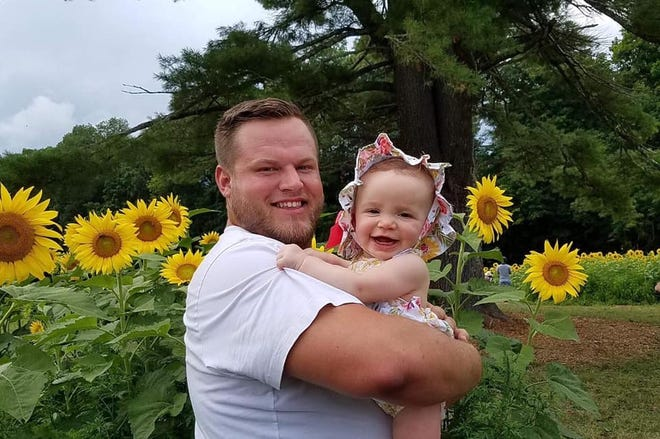 Tristan Miller and his daughter Olivia, now 3. He died last week of a suspected drug overdose.
