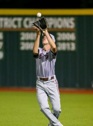 Sherman's Luke Young makes a catch during the Bearcats' win over McKinney North.