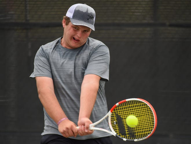 Lubbock High sophomore Harrison Bennett goes into the Region I-5A tennis tournament coming off winning the District 4-5A boys singles title.