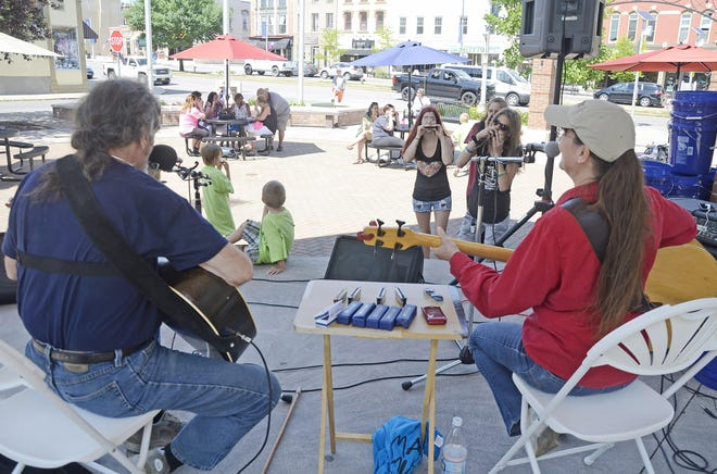 While this isn't them, members of the Canandaigua Academy Tri-M Club will perform this Saturday here, in Commons Park in downtown Canandaigua.