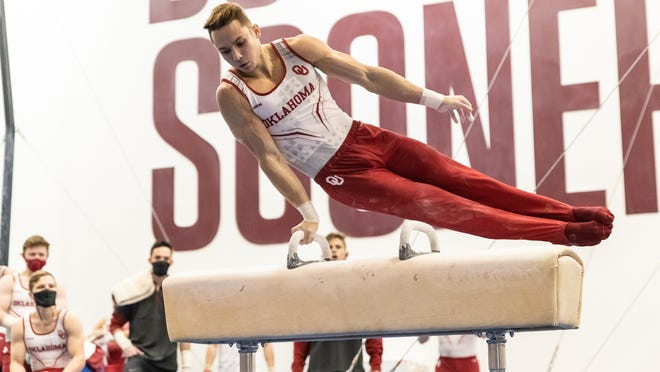 Morgan Seyler and the top-ranked OU men's gymnastics will try to win the NCAA title this weekend in Minneapolis.