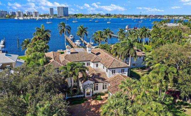 Former Palm Beachers Richard and Debra White Dove Graciano just paid a recorded $11.9 million for this estate on the Intracoastal Waterway at 10993 Jack Nicklaus Drive in North Palm Beach.