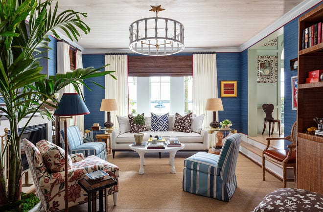 At last year's Kips Bay Decorator Show House Palm Beach, the living room was designed by Benjamin Deaton Interior Design at a house on the South Flagler Drive waterfront in West Palm Beach.