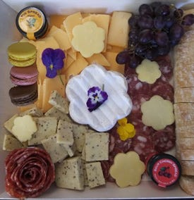 Edgewood Cheese Shop has created a flower themed platter specially for Mother's Day.