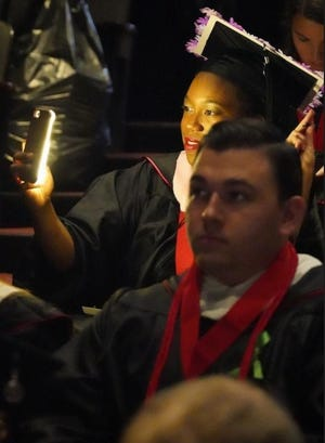 Gardner-Webb University will return to in-person graduation as seen during this 2019 ceremony.