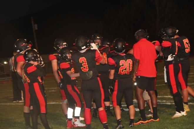 The Yreka High varsity football team during Friday's home game versus U-Prep.