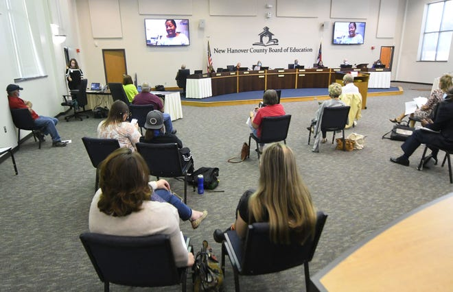New Hanover parents attended a Board of Education meeting Tuesday, April 13 to speak to board members about their concerns with new allegations of sexual abuse in the district.