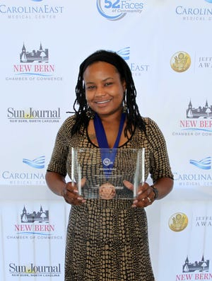 Sun Journal 52 Faces honoree and Jefferson Award for Public Service recipient Antoinette Boskey-Chadwick was honored at the 49th annual Jefferson Awards on September 30.