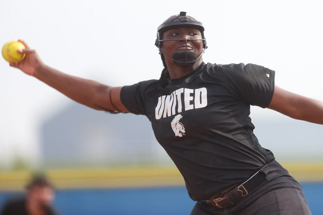 Topeka High junior NiJaree Canady was dominant in the circle for the Trojans in a 4-0 week, which included a huge Centennial League sweep of Washburn Rural. In 22 innings, Canady struck out 52 batters, including 28 in the sweep of Rural, 17 coming in a 5-0 win in the first game.