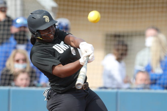 In addition to dominating in the circle, Topeka High's NiJaree Canady had a big week at the plate in helping the Trojans to a 4-0 week. Canady was 7 for 12 with three home runs and 12 RBI.