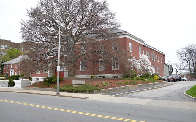 The chancery of the Diocese of Worcester took on a new look in the late 1990s, when the front entrance was reworked, to a lower grade.